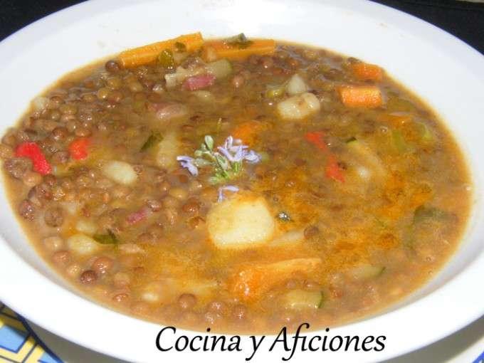 0 - Lentejas con verduras, jamon iberico y queso a las finas hierbas (3)