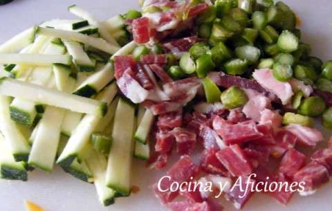 0 verduras y jamón