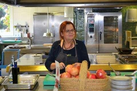 en la cocina del restaurante de Susi Diaz