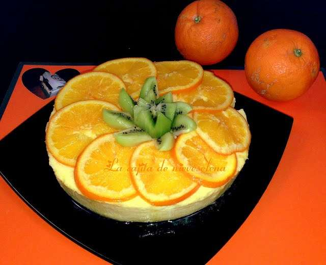 La tarta de naranja y chocolate de la «Cajita de Nieveelena, las recetas de mis amigas.