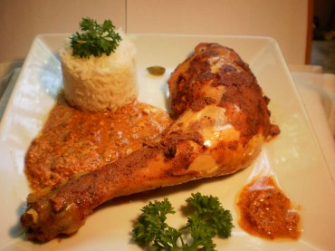 Pollo al curry rojo, receta.