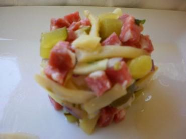Ensalada de salchichón, receta