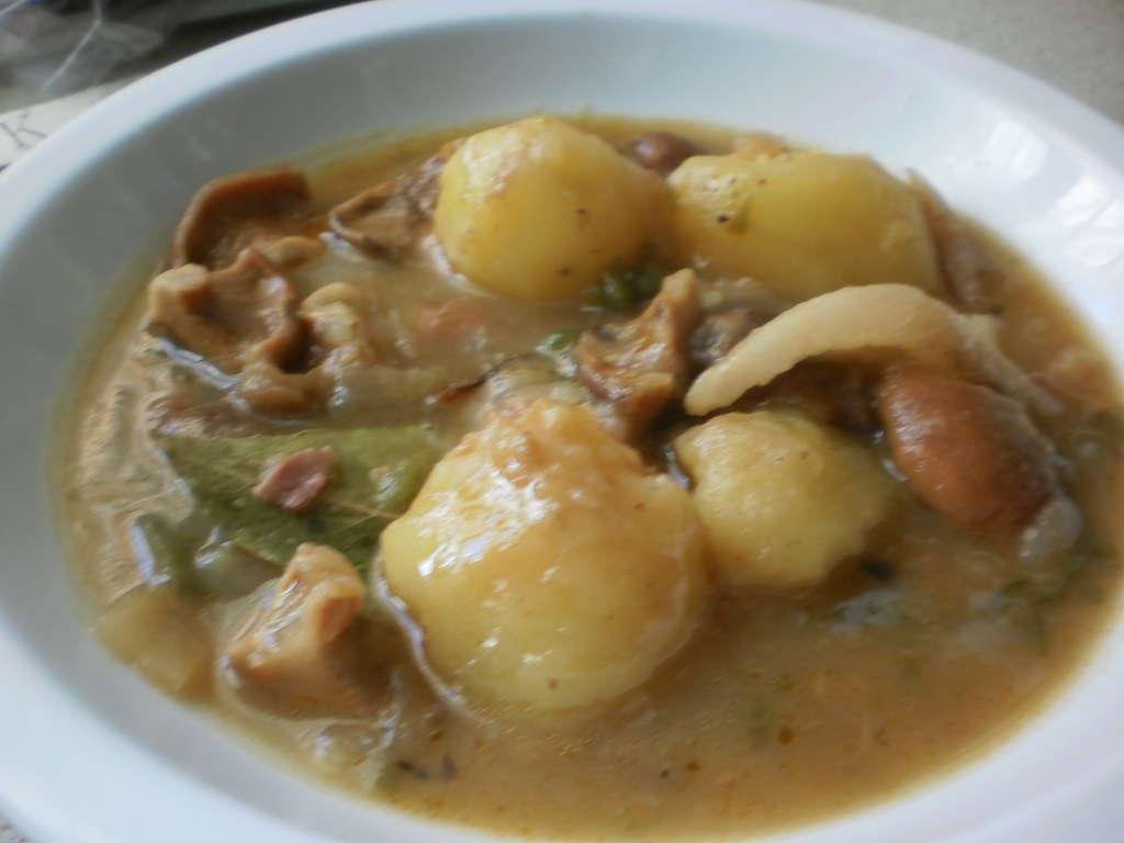 Patatas con niscalos, receta