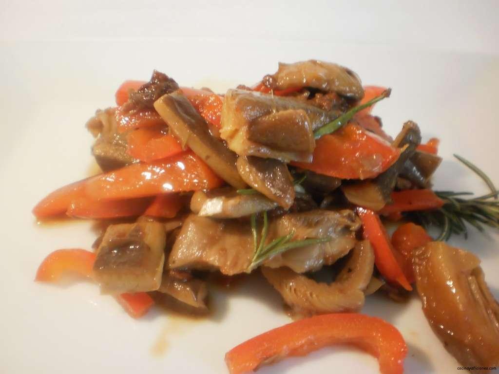 Ajada de setas y tomate seco, receta