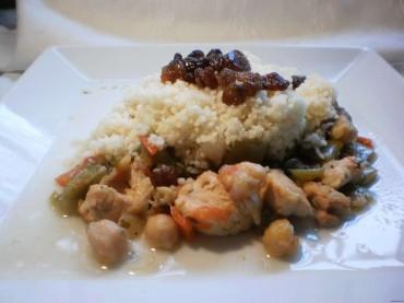 Cuscús de pollo al estilo marroquí, receta