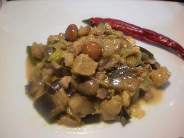 curry de berenjenas y setas, receta