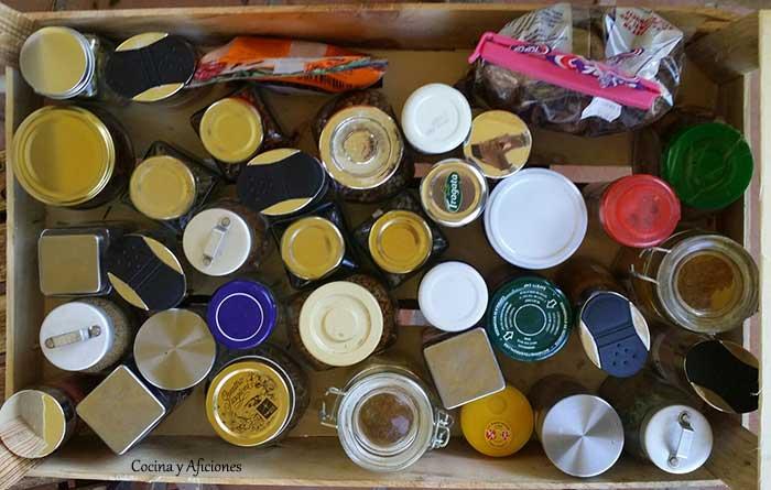 mi caja de especias para preparar currys indios