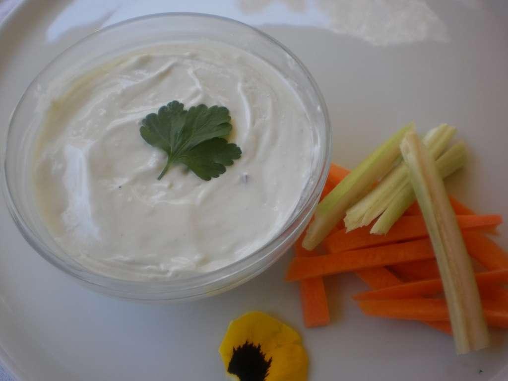 Crema de queso Gorgonzola con yogur griego, receta