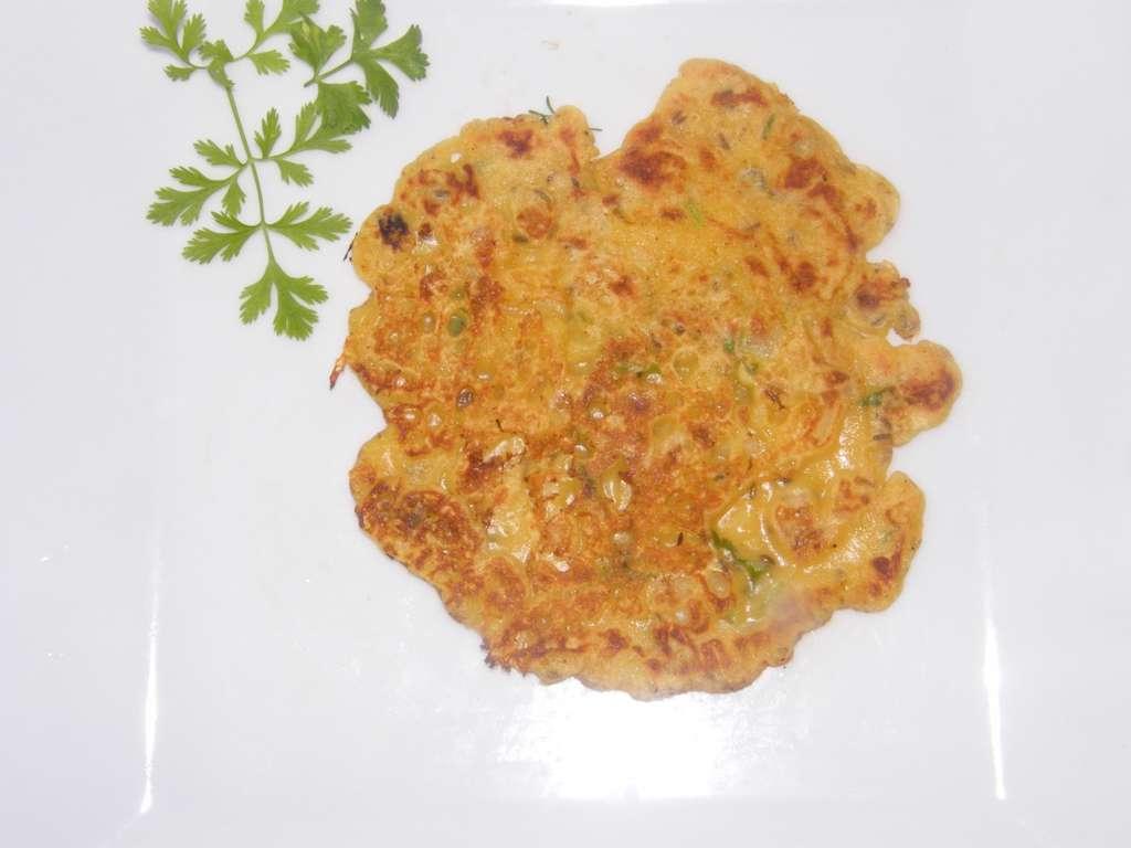 Tortillas con cilantro (tortilla de Besan), receta
