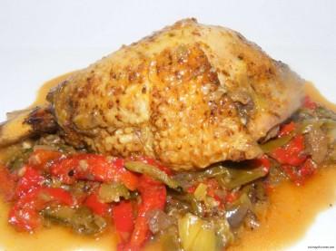 Pollo al estilo Cajún, receta