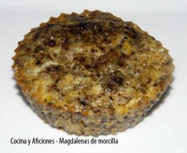 Magdalenas de morcilla, receta