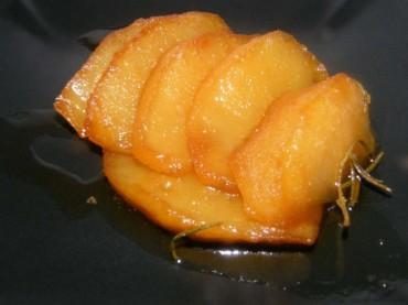 Manzana asada en papillote, receta