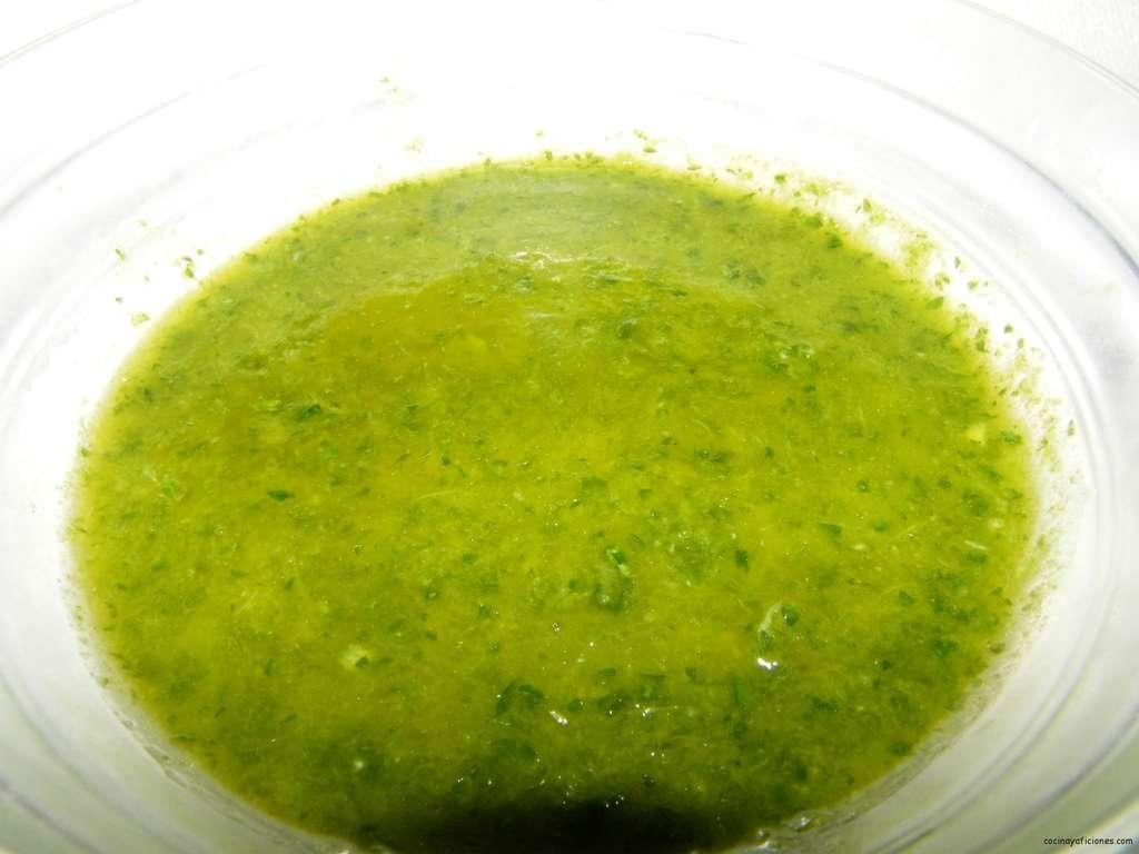 Salsa de perejil y menta, receta