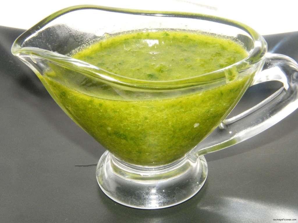 salsa de perejil y menta
