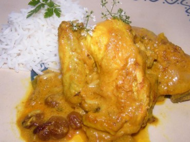 Picantón al yogur (curry de Bengala), receta