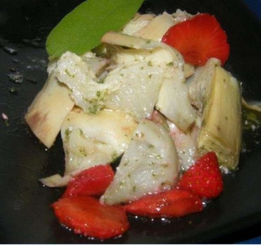 Alcachofas marinadas con salvia, receta