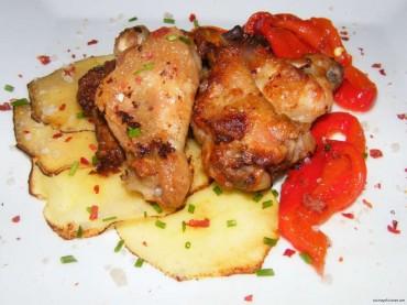 Alitas de pollo marinadas con limón, receta