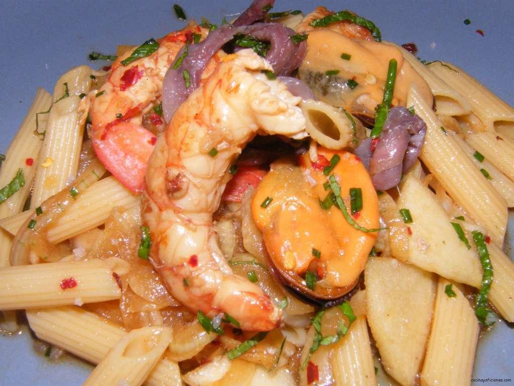 Ensalada fría de Macarrones «Frutti di mare», receta