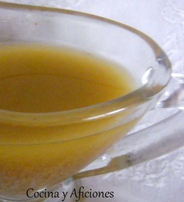 Vinagreta de mostaza, receta