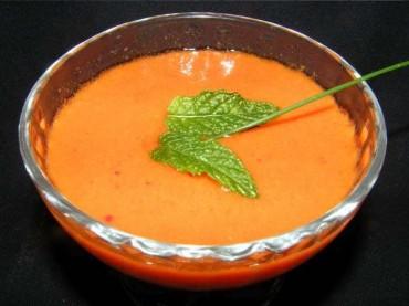 Gazpacho de cerezas, receta