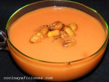 Gazpacho de mango, receta