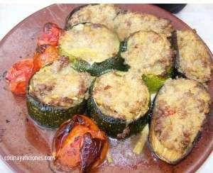 verduras rellenas gratinadas
