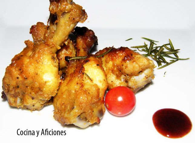 Muslitos de pollo con tika de finas hierbas,receta