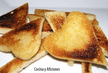 Croutes (costrones de mantequilla), receta