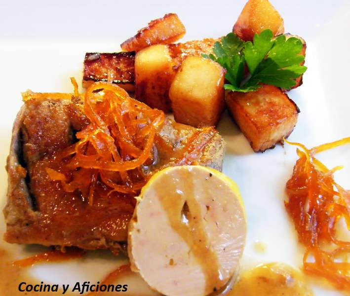 magret de pato con membrillo y naranja confitada 1