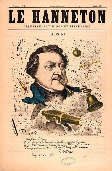 caricatura de Rossini