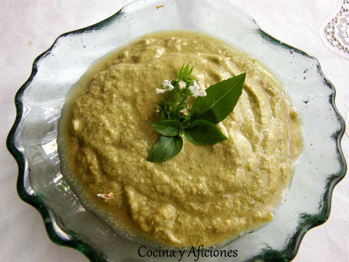Pate o dip «verde» de queso freso y hierbas, receta
