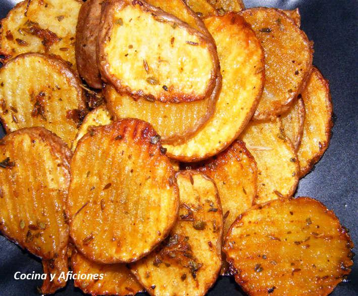 "Patatas onduladas ""picantonas"", receta"