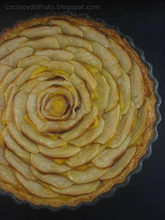 Tarta de manzana con masa sablé, receta