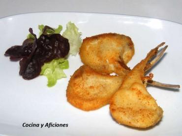 """Chuletillas de cordero """"Villeroy"""", receta"""