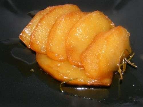 Manzana asada en papillote
