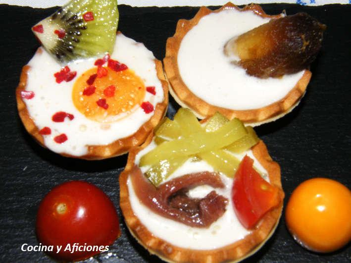 Tartaletas de crema ligera de anchoa, receta