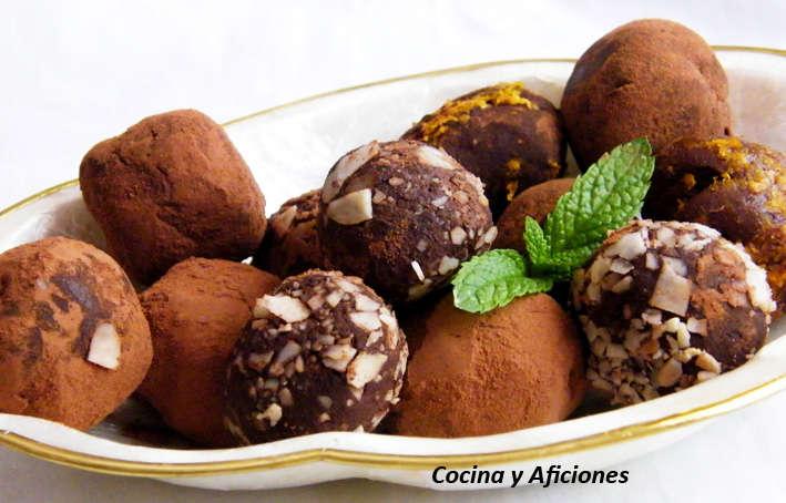 Trufas de chocolate y coñac, receta