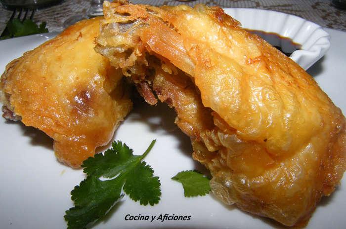 Pollo de corral crujiente al estilo de  Sechuan, receta