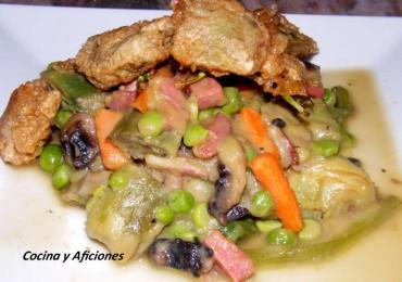 Menestra de verduras al estilo riojano, receta