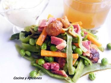 Verduras con su caldito, receta