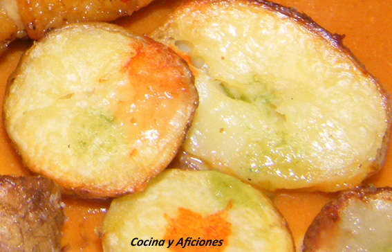 Papas asadas crujientes y picantes, receta