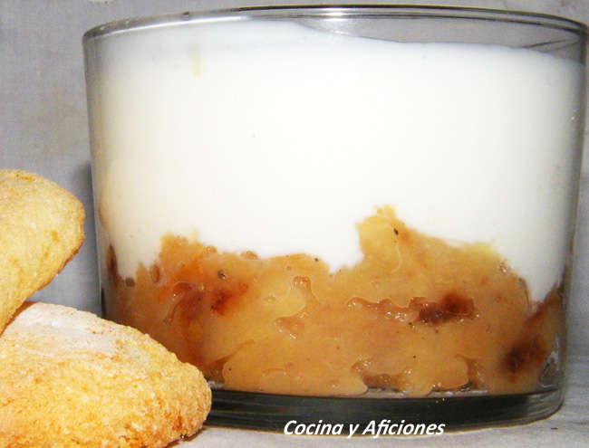 postre de membrillo y yogur
