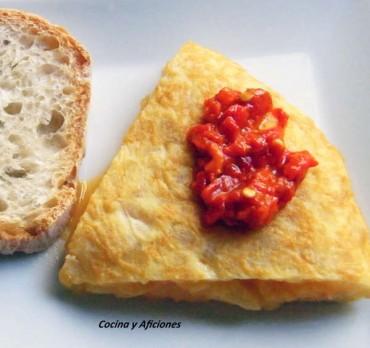 Tortilla de patata con alegrías al estilo riojano, receta