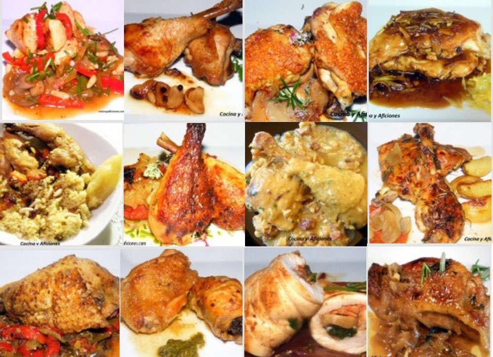 Doce recetas con pollo