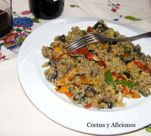 Qu noa con verduras y setas sitake receta cocina y aficiones - Cocinar quinoa con verduras ...