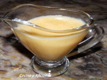Salsa ligera de queso, receta