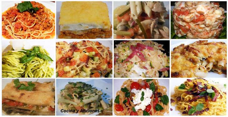 Doce deliciosas recetas con pasta