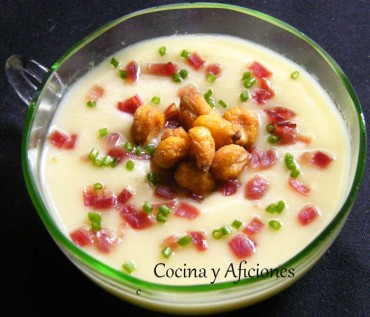 Vichyssoise (crema de puerros) con toque, receta
