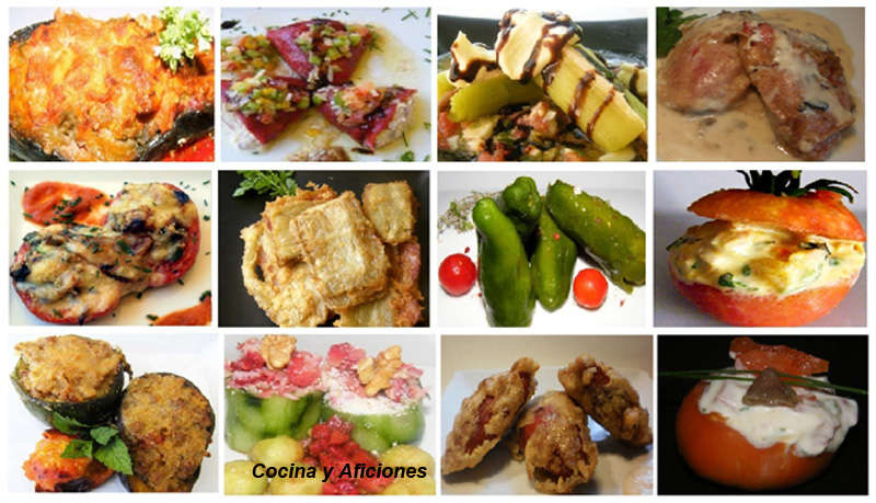 Doce verduras rellenas, recetas