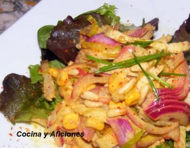 Ensalada de carne con aliño thai, receta paso a paso